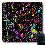 Luancrop Mousepads Gelbe Farbe Neon Splatter Pattern Abstract Splash Ink Spaß Badeanzug Design...