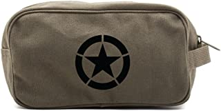 World War 2 Military Jeep Star Canvas Shower Kit Travel Toiletry Bag Case