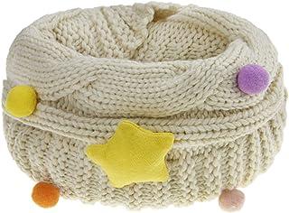 学步儿童男孩女孩冬季保暖圆圈围巾针织护颈