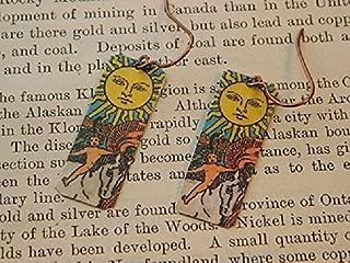 Tarot earrings The Sun Tarot Jewelry