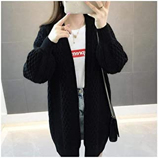 LJLLINGA Spring Sweater Cardigans Women V Neck Lantern Sleeve Open Stitch Loose Sweater Jacket Cheap Clothes Female Knit Coat