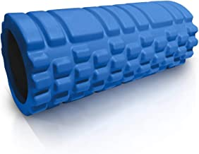 House of Quirk Bumpy Foam Roller, Solid Core EVA Foam Roller with Grid/Bump Texture for Deep Tissue Massage and Self-Myofascial Release