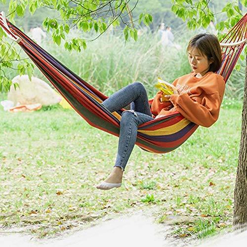 HOUSEHOLD Toile Hamac Portable Jardin Balançoire Campi Camping Parachute hamac Survie Mobilier de Jardin Loisirs Dormir Hamaca Voyage Hamac (Color : A)