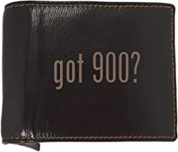 got 900? - Soft Cowhide Genuine Engraved Bifold Leather Wallet