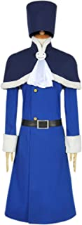 Fairy Tail Cosplay Rain Woman Juvia Lockser Costume Blue Outfit Shawl Coat