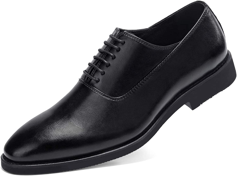 GM GOLAIMAN Men's Derby Dress shoes Classic Lace Up Wingtip Oxford shoes Black Brown