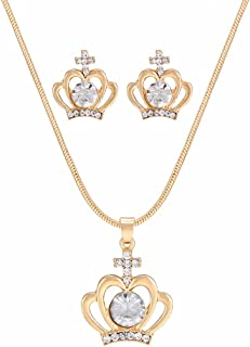 CHOA Musical Note Pendant Set-Women Earrings Necklace Suit
