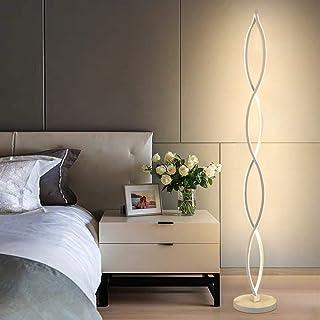 Lámpara de Pie LED Regulable Twist Wave - ELINKUME Diseño Moderno único Iluminación Blanca Cálida 30W Brightest, Interruptor Regulable con Botón,Adecuado para Sala de Estar/Dormitorio