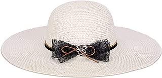 Hat Big Along The hat Distaff Summer fold Sunscreen Ladies Visor Fashion Bow Version (Color : White)