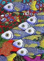 1000ピースパズル子供大人の魚のパイパターンジグソーパズルおもちゃ-家族教育パズルおもちゃギフト