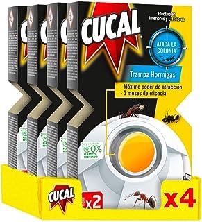 Cucal Insecticida Trampa Hormigas 2 Trampas - Pack de 4, Total: 8 Trampas