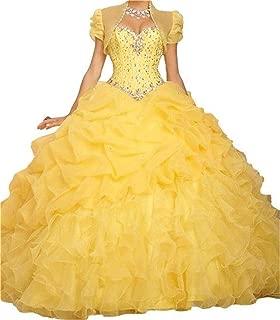 Women's Quinceanera Dresses Ball Gown Beaded Long Prom Dress B314