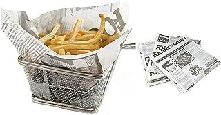 100 hojas de pan sándwich hamburguesa papas fritas papel de grado alimenticio a prueba de aceite Papel de grasa Envoltorio...