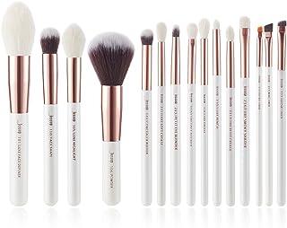 Jessup 15Pcs Pearl White/Rose Gold Professional Makeup Brushes Set Make up Brush Tools kit Foundation Powder Definer Shade...