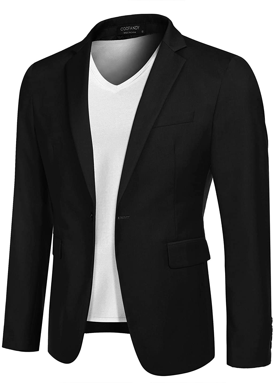 COOFANDY Mens Sport Coat Casual Blazer One Button Business Suit Jacket