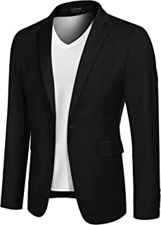 COOFANDY Mens Sport Coat Casual Blazer One Button Business Suit Jacket