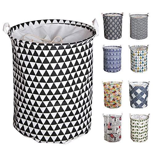 UHAPEER Wäschekorb Faltbare, Groß Pop-Up-Wäschekorb, Kordelzug-Verschluss, Wasserdicht, Baumwolle, 45 cm