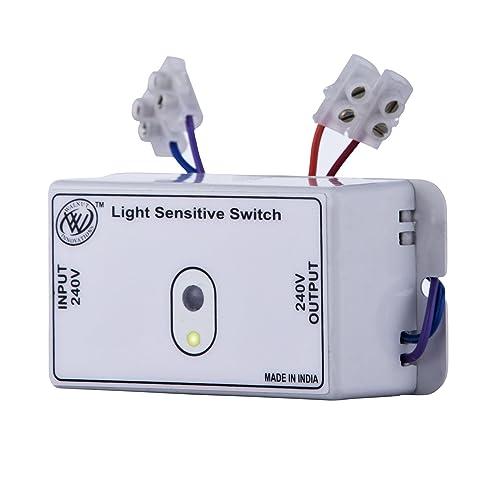 Walnut Innovations Plastic Day Night Automatic Light Sensor Switch (Siemens Grey)
