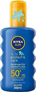 NIVEA SUN الاطفال حماية والتشغيل مرطب الشمس بخاخ، SPF 50+، 200ml في