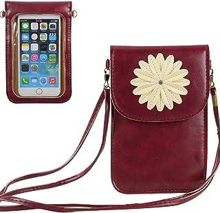Women Touch Screen Crossbody Bag Wallet Small Cell Phone Purse for iPhone 12, 11, 10, 12 Pro, 11 Pro, XR, XS, Pixel 3, Mot...