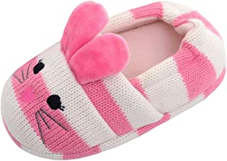 Beeliss Toddler Girls Slippers Cartoon Animal Crochet Shoes