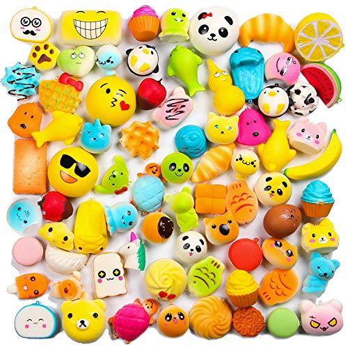 WATINC Random 20 pcs Squishys Cream Scented Kawaii Simulation Lovely Toy Medium Mini Soft Food squishys Phone Straps (20P Donuts)