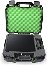 Casematix Green Console Case Fits Xbox 1 X 1tb Enhanced 4k HDR Gaming Console , Controller , Cables and Games with Impact Resistant Shell