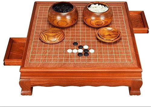 HongTeng Go, Schachbrett-Set Erwachsene High-End-Classic-Schublade aus Massivholz (Farbe   A)