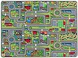 Primaflor - Ideen in Textil Tapis de Jeux Rues 1,40m x 2,00m, Tapis de Jeu Enfant | Tapis Circuit Voiture | Tapis de Sol Enfant de Haute Qualité