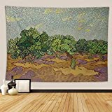 Van Gogh Tapestry,Olive Tree S Vincent 1889 Dutch Post Impressionist Oilcanvas The Wor,Wall Hanging Mass Wall Tapestry for Bedrooms Living Room Tablecloth Blanket Wall Decor Dorm 50x60 Inch