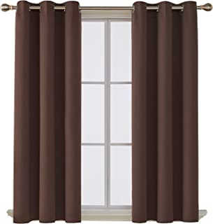 Deconovo Room Darkening Thermal Insulated Blackout Grommet Window Curtain for Living Room, Chocolate,42x63-inch,1 Panel