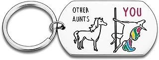漫画のキーチェーン 叔母の贈り物キーホルダーのベストAuntie誕生日キーチェーンクリスマス母の日ユニコーン叔母ギフトアイデア皮肉な鑑賞プレゼント (Color : OTHER AUNTS)