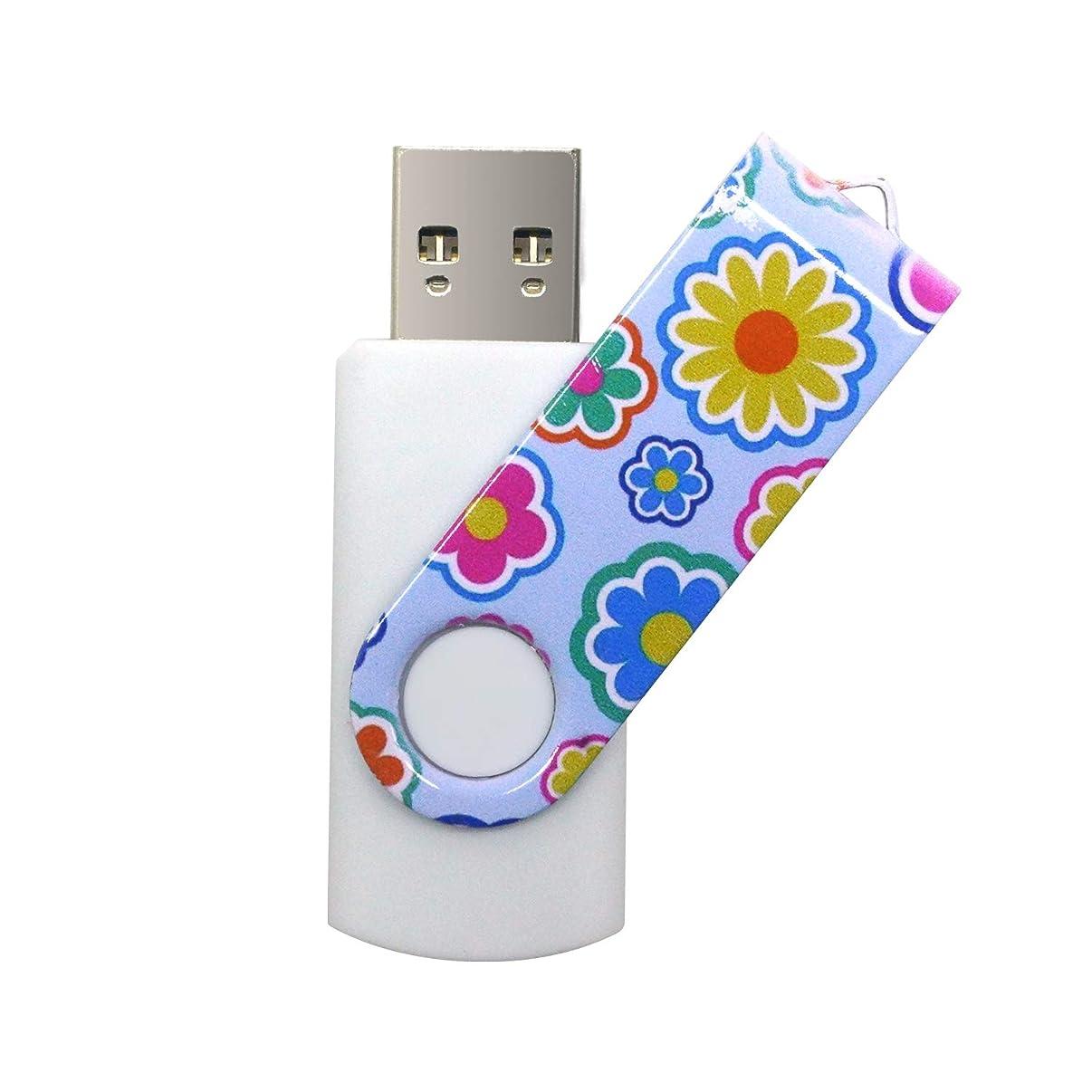 Vatapo USB 3.0 128GB Flash Drive Thumb Drive Memory Stick Jump Drive Transfer Speeds Up to 200MB/s (Colorful Flower) (128GB)