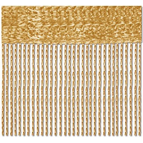 Bestlivings Gardinenbox - Cortina de hilos (140 x 240 cm), color dorado y caramelo