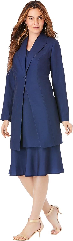 Roaman's Women's Plus Size Duster Jacket Dress