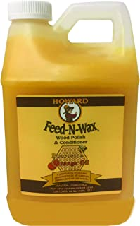 Howard Products FW0064 Feed-N-Wax Wood Polish & Conditioner, 64 oz
