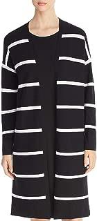 Lafayette 148 New York Womens Petites Striped Split Hem Cardigan Top