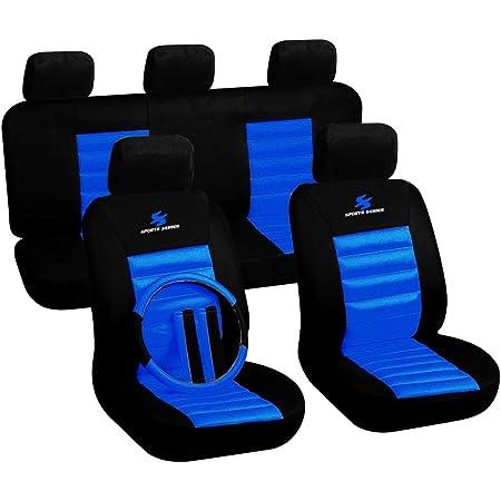 Woltu 7264 Schonbezug Schonbezüge Auto Sports Seriers Polyester Universal Blau Auto