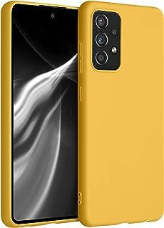 kwmobile telefoonhoesje compatibel met Samsung Galaxy A52 / A52 5G / A52s 5G - Hoesje voor smartphone - Back cover in honi...