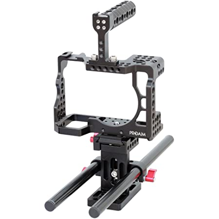 PROAIM Muffle Cage Aluminum Sturdy Support Protection 300mm rods Rail for Compatible with Sony A7RIII Camera (CG-A7R3-02) Tripod Mount Rig Kit