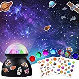 Night Light for Kids, Night Light Projector with Galaxy Starry Sky Stickers, Ocean Wave Projector Auto Rotating LED Light for Bedroom Decor Home Party, Kids Night Light Gifts for Teens