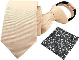 ggudd Hombres Cachemir Corbatas Formal Cremallera Lazo & Bolsillo Conjunto Cuadrado Varios Diseños