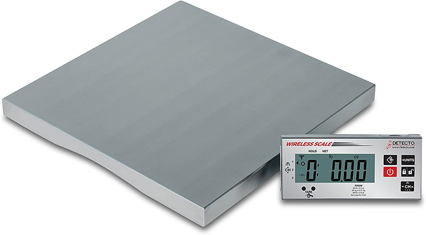 Detecto PZ30W Wireless Ingredient Scale Includes AC Adapter 1 6 Height 14 Width 14 Length 30 Lb