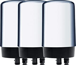 Brita Tap Water Filtration System Replacement Filters for Faucets, 3 Count, Chrome