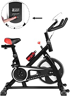GraPefruiT Indoor Exercise Bike, Ultra-quiet Fitness Bicycle, Stationary Cycling Bike, Fitness Equipment for Cardio Training Fitness at Home and Gym Studio, 41 × 9 × 31 Inch