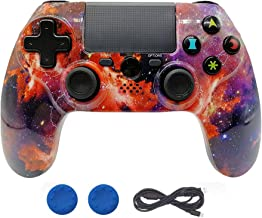 ISHAKO Double Shock PS4 Controller Wireless PS4 Controller for Sony Playstation 4 Remote, Six-axis Bluetooth Gamepad Joystick Controller (Universe)