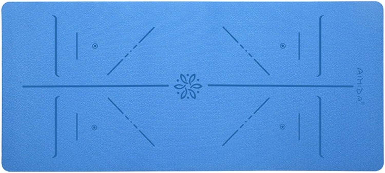 JCCOZ Yogamatten, Thicken Widen Verlngert Fitness-Matte Geschmacklos Anti-Rutsch-Trainingsmatte Yogamatten (Farbe    4, gre   Thickness8mm)