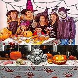 PERFETSELL 2 Stücke Halloween Tischdecke Blutige Halloween Tischdeko 260*130cm Handabdruck Tischtuch für Karneval Fasching Halloween Party Dekoration - 7