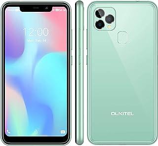 OUKITEL C22 Smartphone Ohne Vertrag (2021),128 GB + 4 GB Android 10 Handy mit 256 GB Erweiterbar, 5,86 '' Display,4000 mAh Gesichts-ID + Fingerabdruck GSM 4G LTE Dual SIM(Grün)