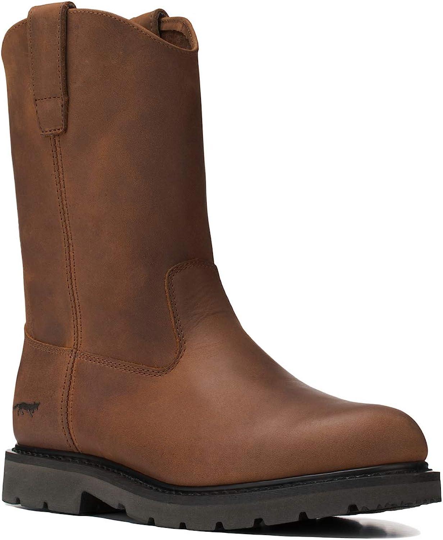 Golden Over item handling ☆ Fox Men's 2021 new Leather Wellington W Farm Rigger Construction